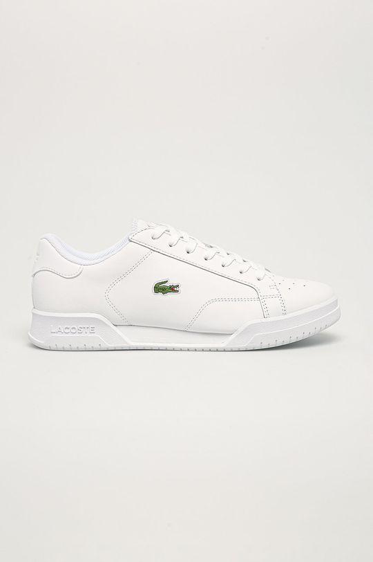 biela Lacoste - Kožená obuv Pánsky