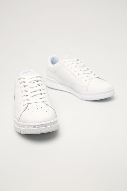Lacoste - Kožená obuv biela