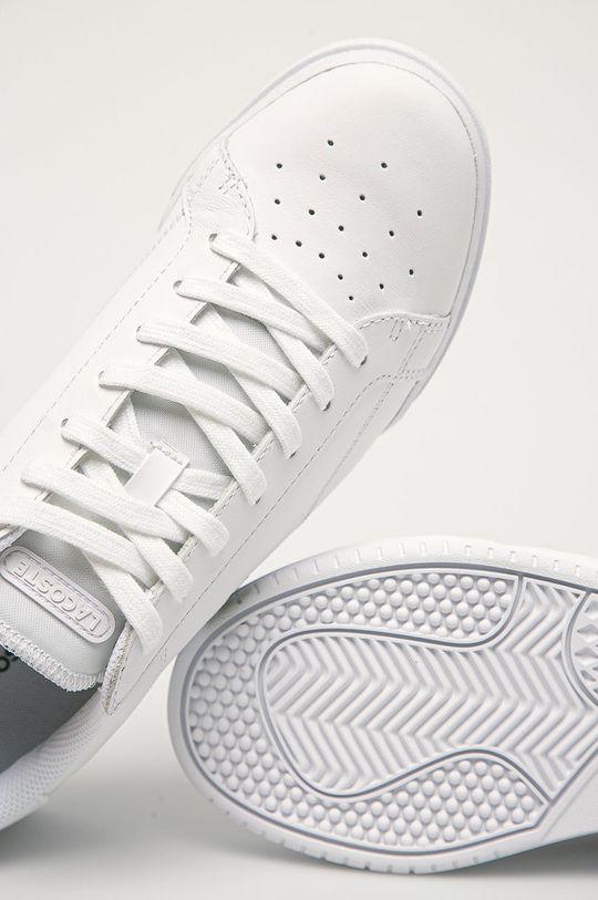 biela Lacoste - Kožená obuv