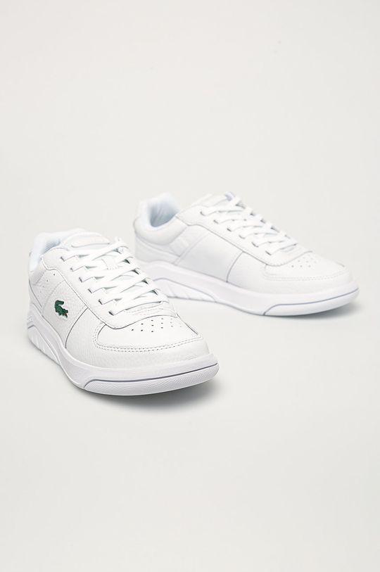 Lacoste - Kožené boty Game Advance bílá