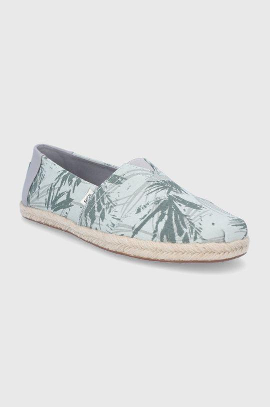Toms - Espadrilky Mercury Botanical Palm zelená