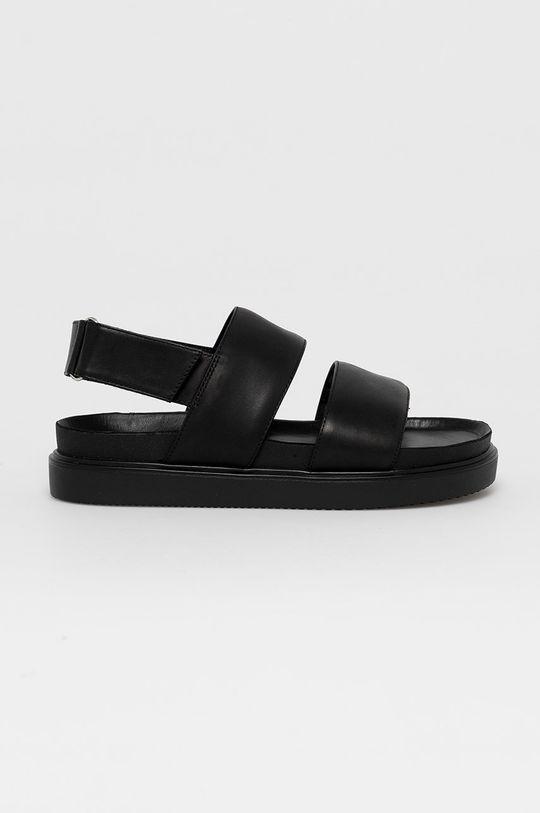 čierna Vagabond - Kožené sandále Seth Pánsky