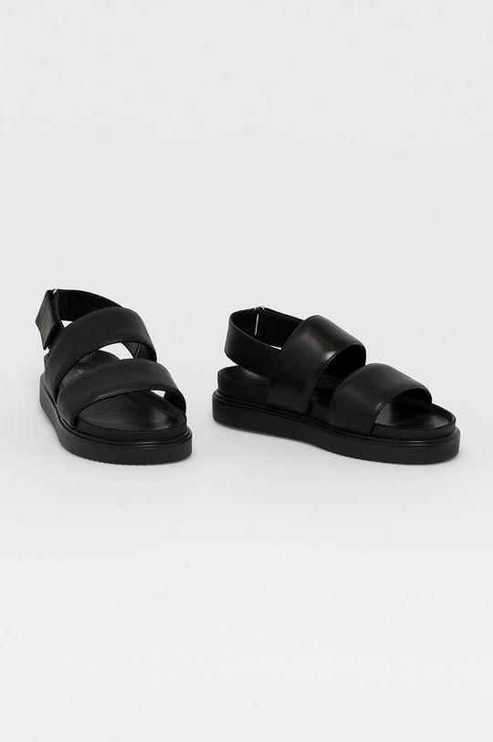Vagabond - Kožené sandále Seth čierna