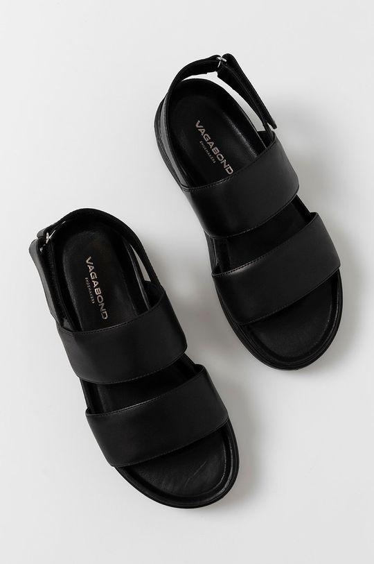 čierna Vagabond - Kožené sandále Seth