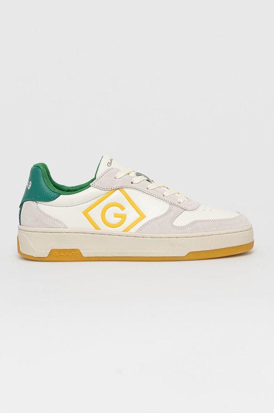 biela Gant - Kožená obuv Saint-Bro Pánsky
