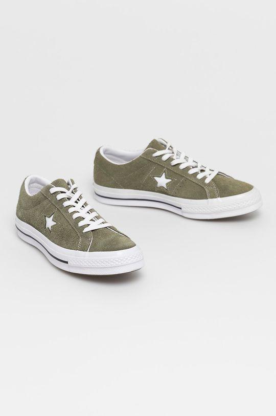 Converse - Tenisówki skórzane brązowa zieleń