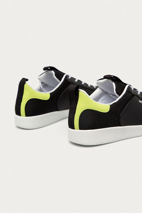 Armani Exchange - Kožené boty  Svršek: Textilní materiál, Přírodní kůže Vnitřek: Textilní materiál Podrážka: Umělá hmota