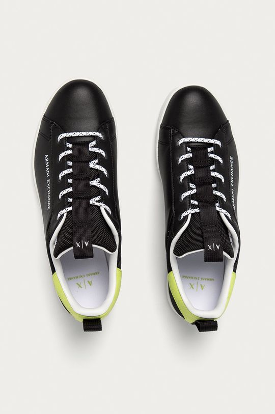 černá Armani Exchange - Kožené boty