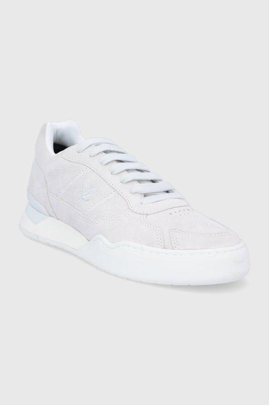 Lyle & Scott - Semišové boty šedá