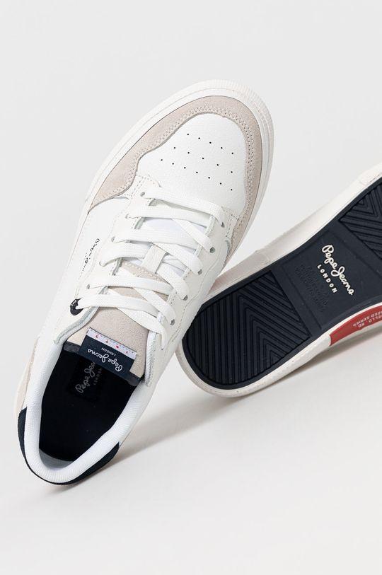 biela Pepe Jeans - Topánky KENTON ORIGINAL