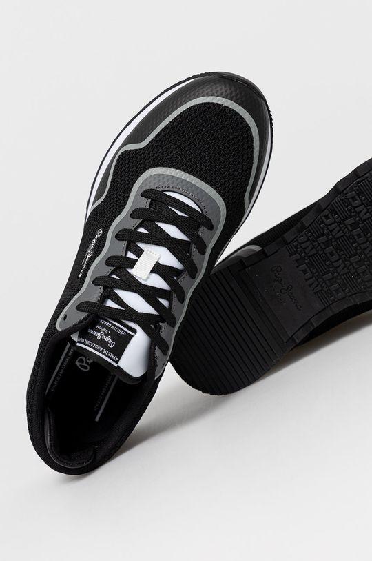 černá Pepe Jeans - Boty CROSS 4 KNIT