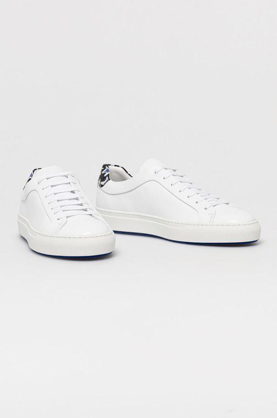 Boss - Buty skórzane x Justin Teodoro biały