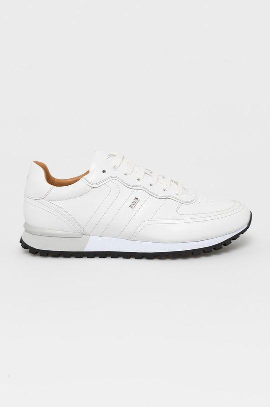 bílá Boss - Kožené boty Pánský