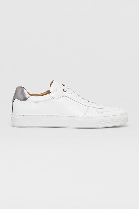 biela Boss - Kožená obuv Pánsky