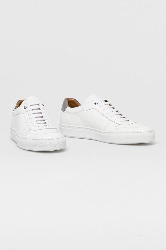 Boss - Kožená obuv biela