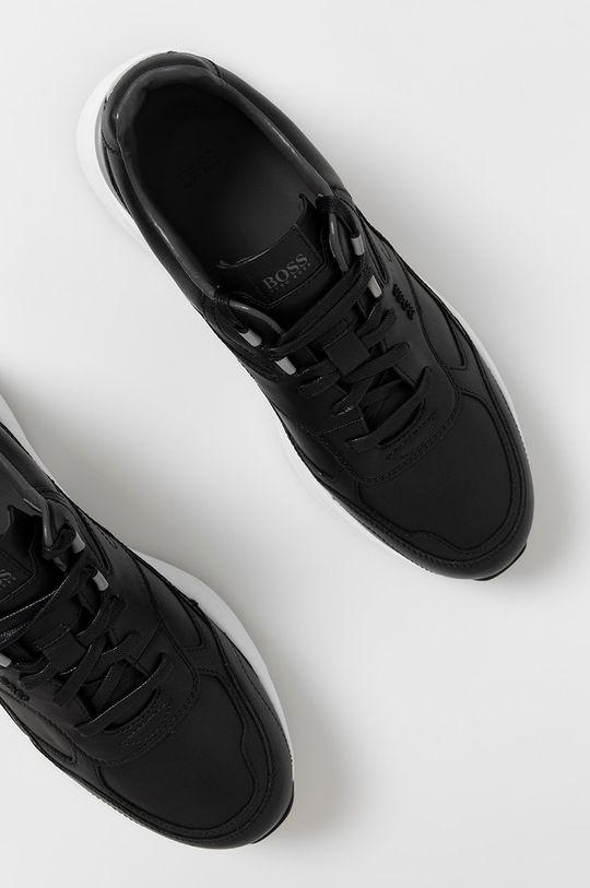 černá Boss - Kožené boty
