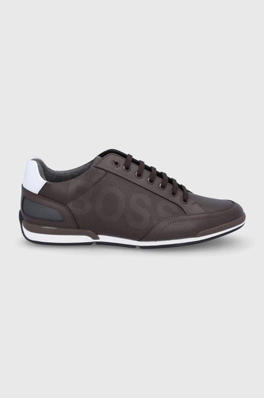hnedá Boss - Kožená obuv Pánsky