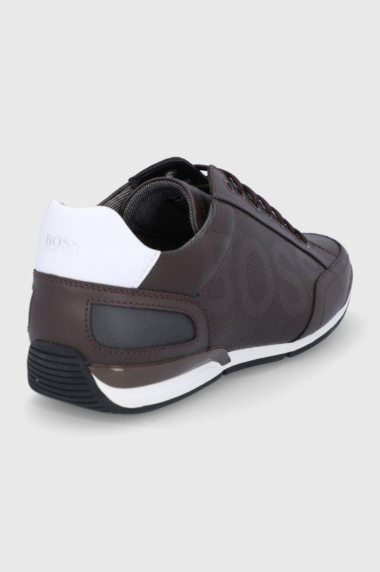 Boss - Kožená obuv  Zvršok: Prírodná koža Vnútro: Textil Podrážka: Syntetická látka