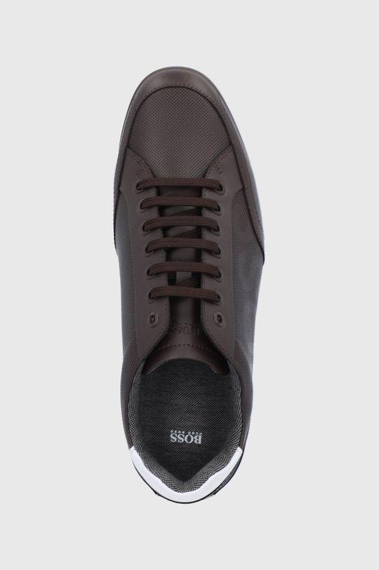 hnedá Boss - Kožená obuv