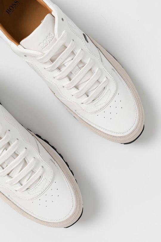 biały Boss - Buty skórzane