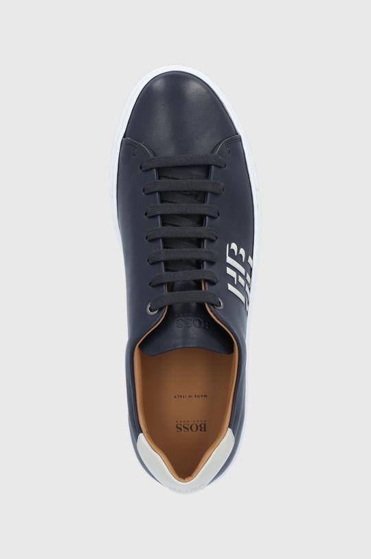 tmavomodrá Boss - Kožená obuv