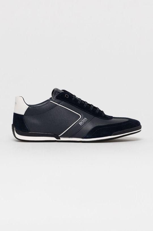 tmavomodrá Boss - Kožená obuv Pánsky
