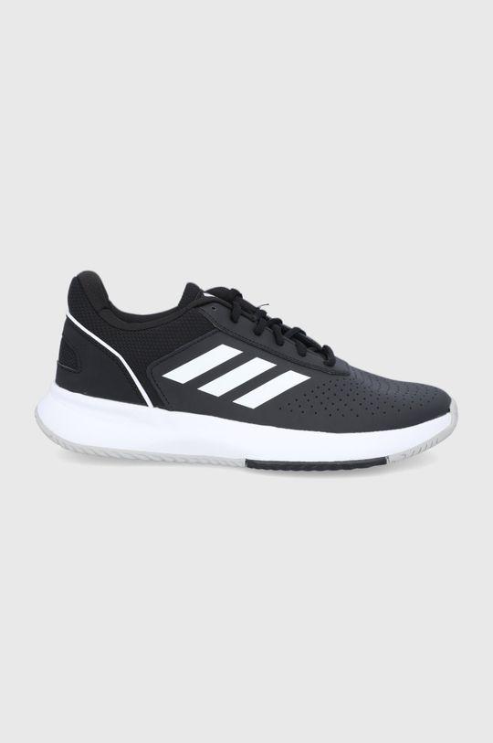 czarny adidas - Buty skórzane Courtsmash Męski