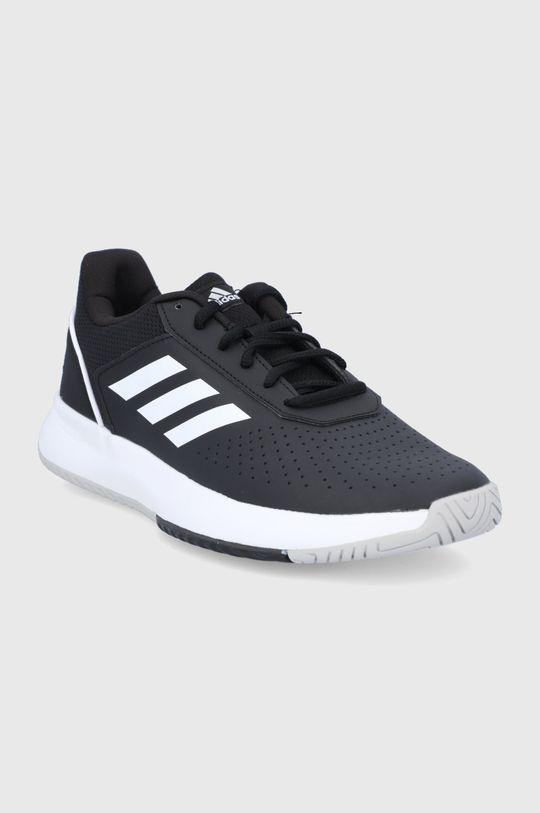 adidas - Buty skórzane Courtsmash czarny