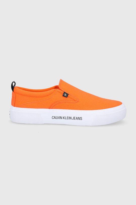 pomarańczowy Calvin Klein Jeans - Tenisówki Męski