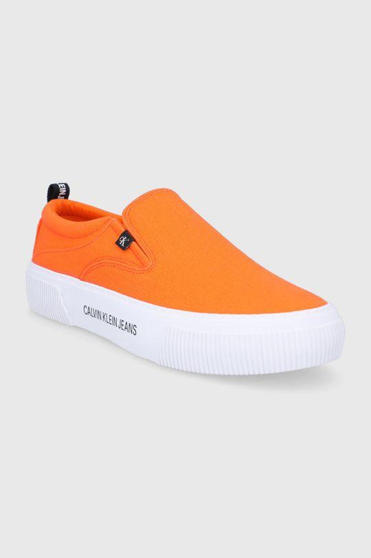 Calvin Klein Jeans - Tenisówki pomarańczowy