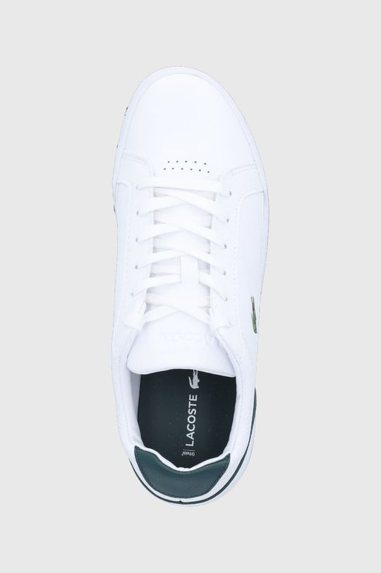bílá Lacoste - Kožené boty Challenge