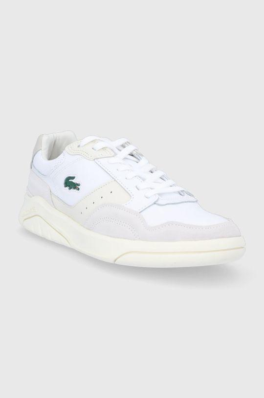 Lacoste - Buty skórzane Game Advance biały