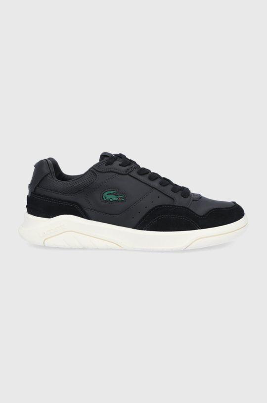 černá Lacoste - Kožené boty Game Advance Pánský