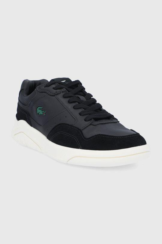Lacoste - Kožené boty Game Advance černá