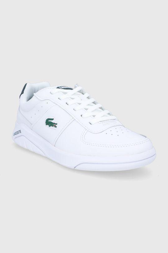 Lacoste - Buty skórzane biały