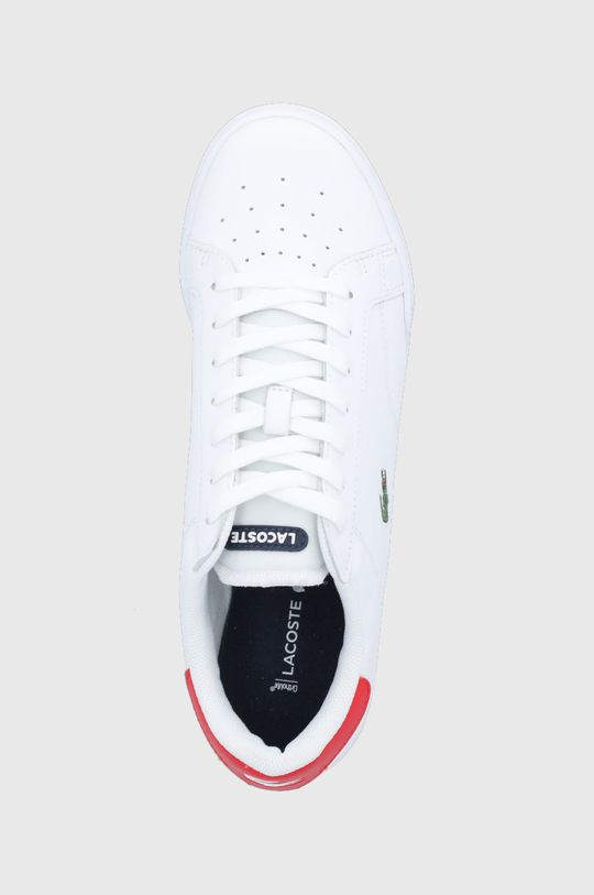 bílá Lacoste - Kožené boty Twin Serve