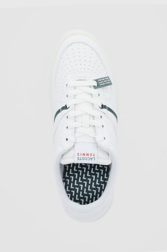 biały Lacoste - Buty skórzane Quantace