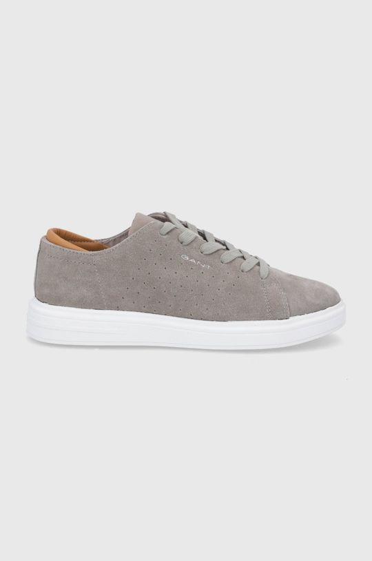 šedá Gant - Semišové boty Fairville Pánský