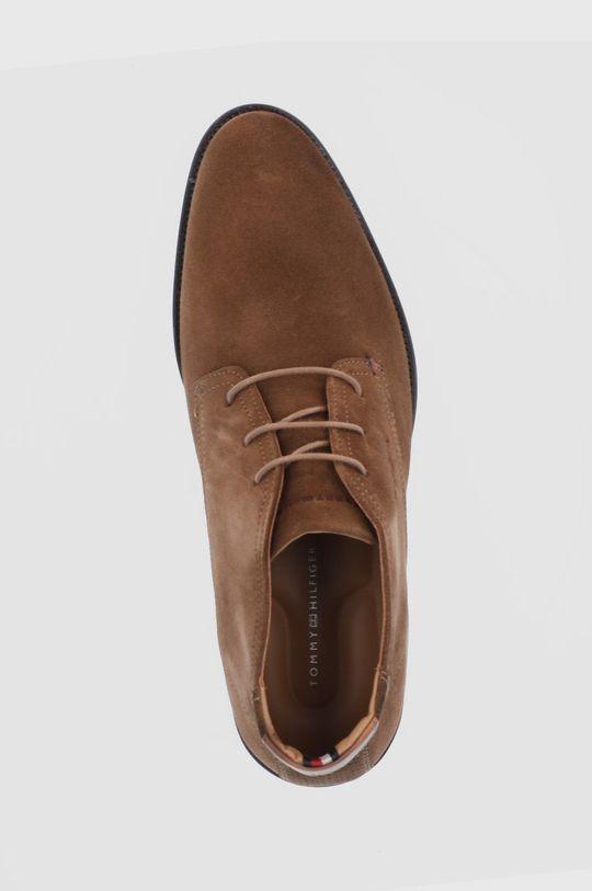 hnědá Tommy Hilfiger - Semišové boty