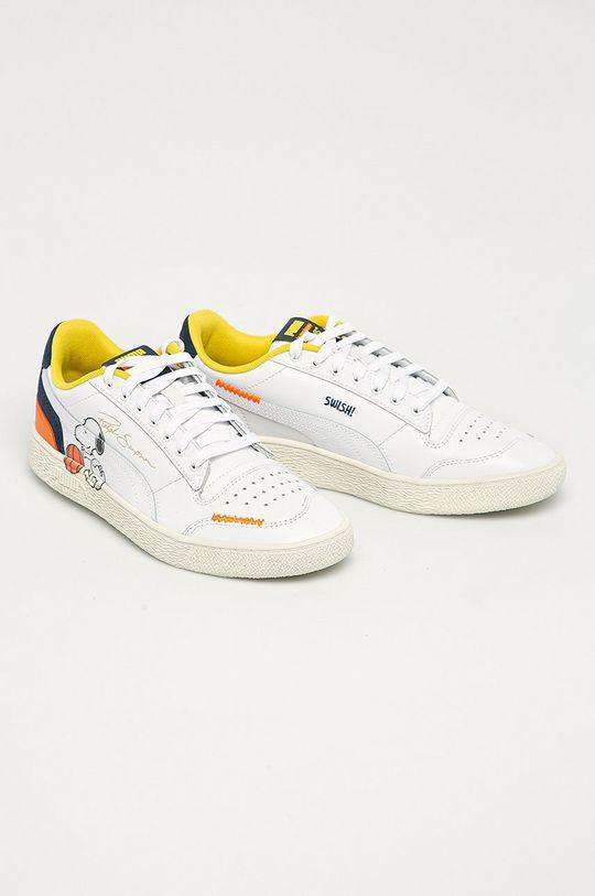 Puma - Kožené boty X Peanuts Ralph Sampson bílá