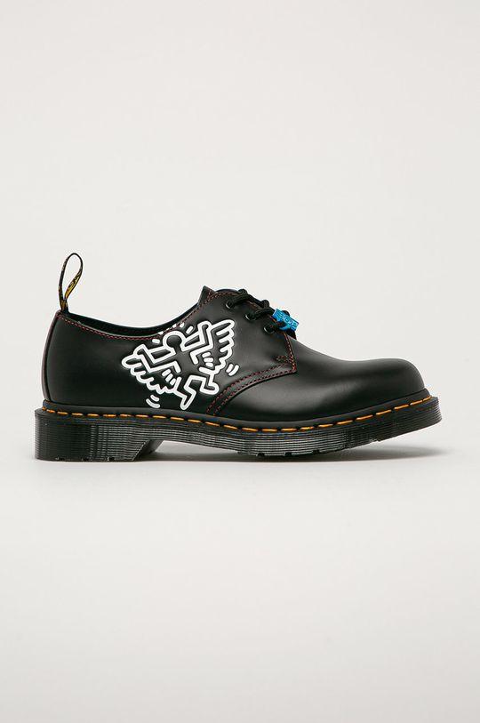 czarny Dr. Martens - Półbuty skórzane x Keith Haring Unisex