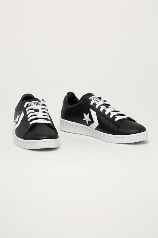 Converse - Kožené boty černá
