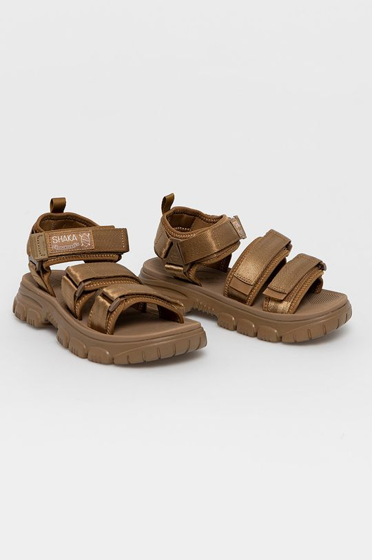 Shaka - Sandały złoty brąz