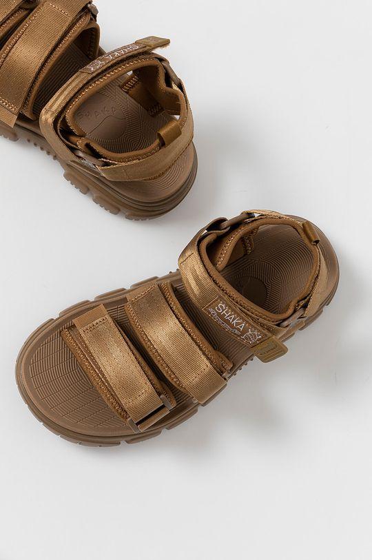złoty brąz Shaka - Sandały