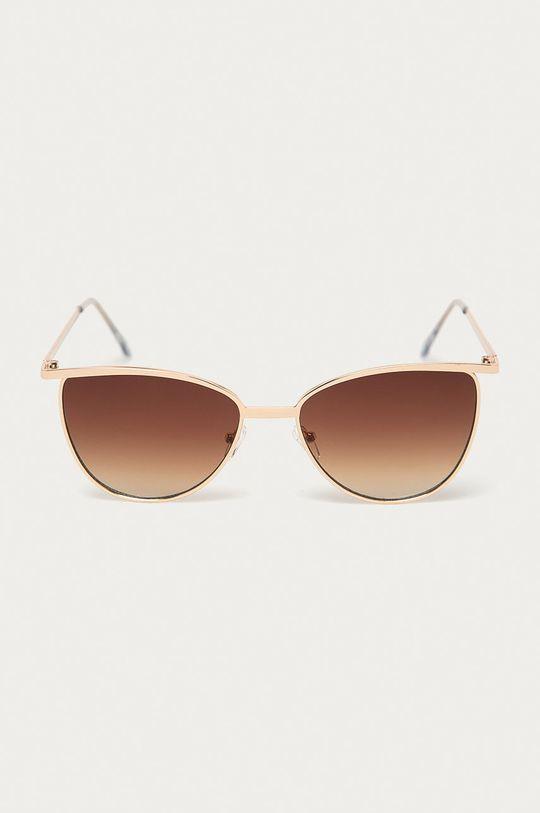 Pieces - Slnečné okuliare zlatá