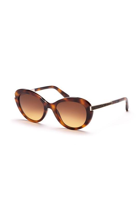 kawowy Swarovski - Okulary przeciwsłoneczne Damski