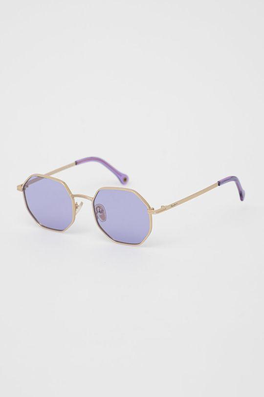 winogronowy Pepe Jeans - Okulary przeciwsłoneczne Octagon Metal Damski