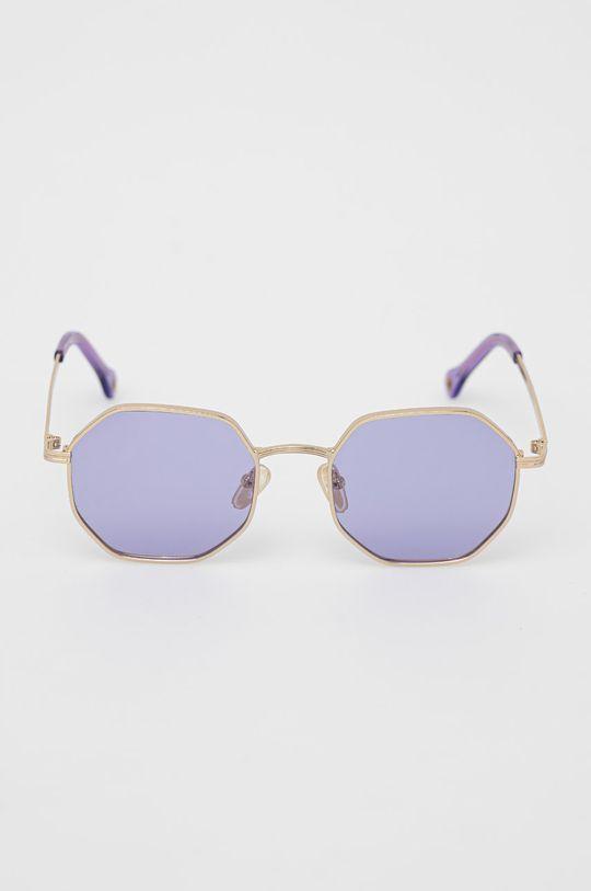 Pepe Jeans - Okulary przeciwsłoneczne Octagon Metal winogronowy