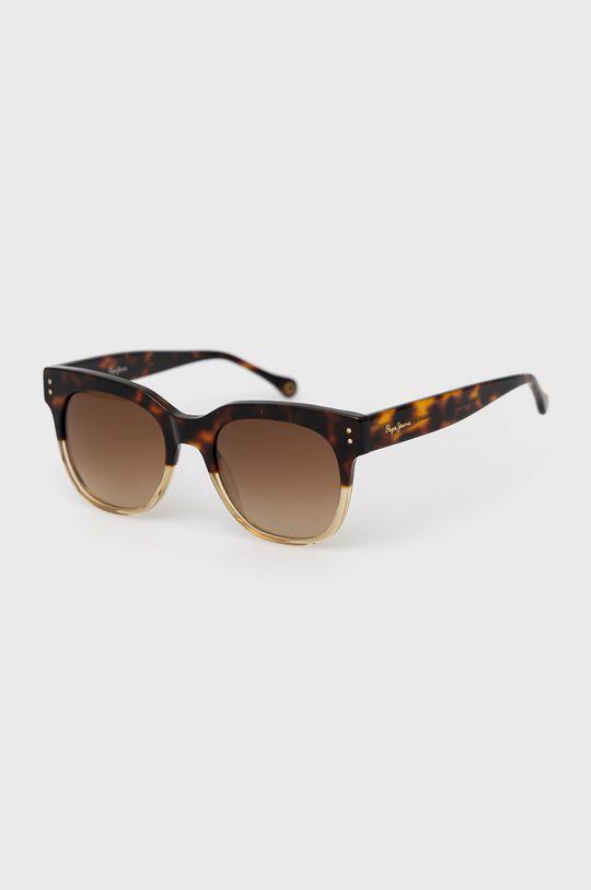 brązowy Pepe Jeans - Okulary przeciwsłoneczne Square Pinup Damski