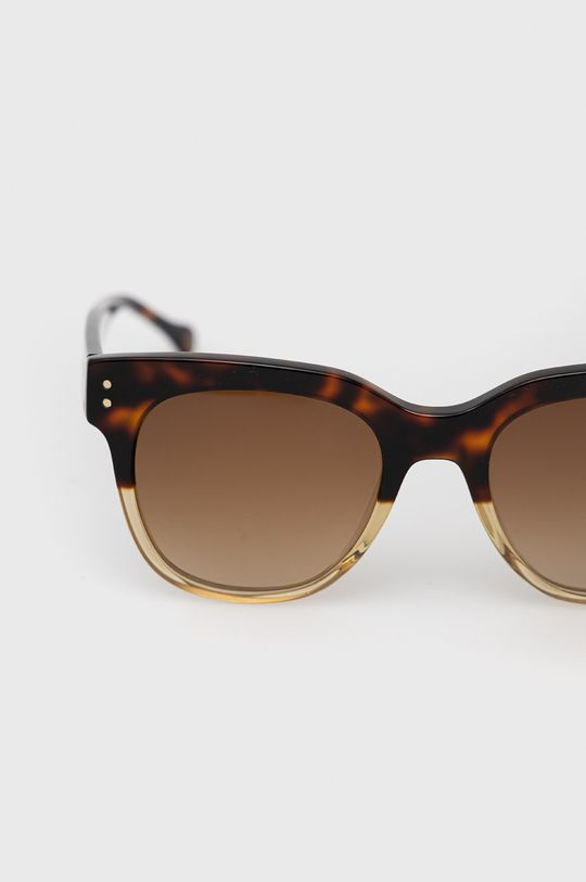 Pepe Jeans - Okulary przeciwsłoneczne Square Pinup brązowy